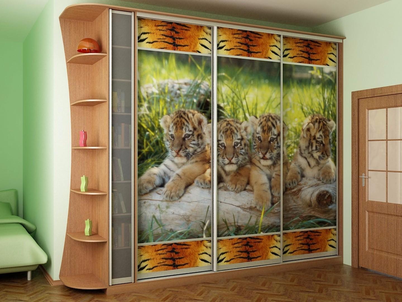 "Шкаф купе - тигрята ооо ""мебельмаркет""."